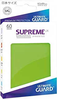 Ultimate Guard Supreme Japanese UX Card Sleeves (60 Piece), Light Green