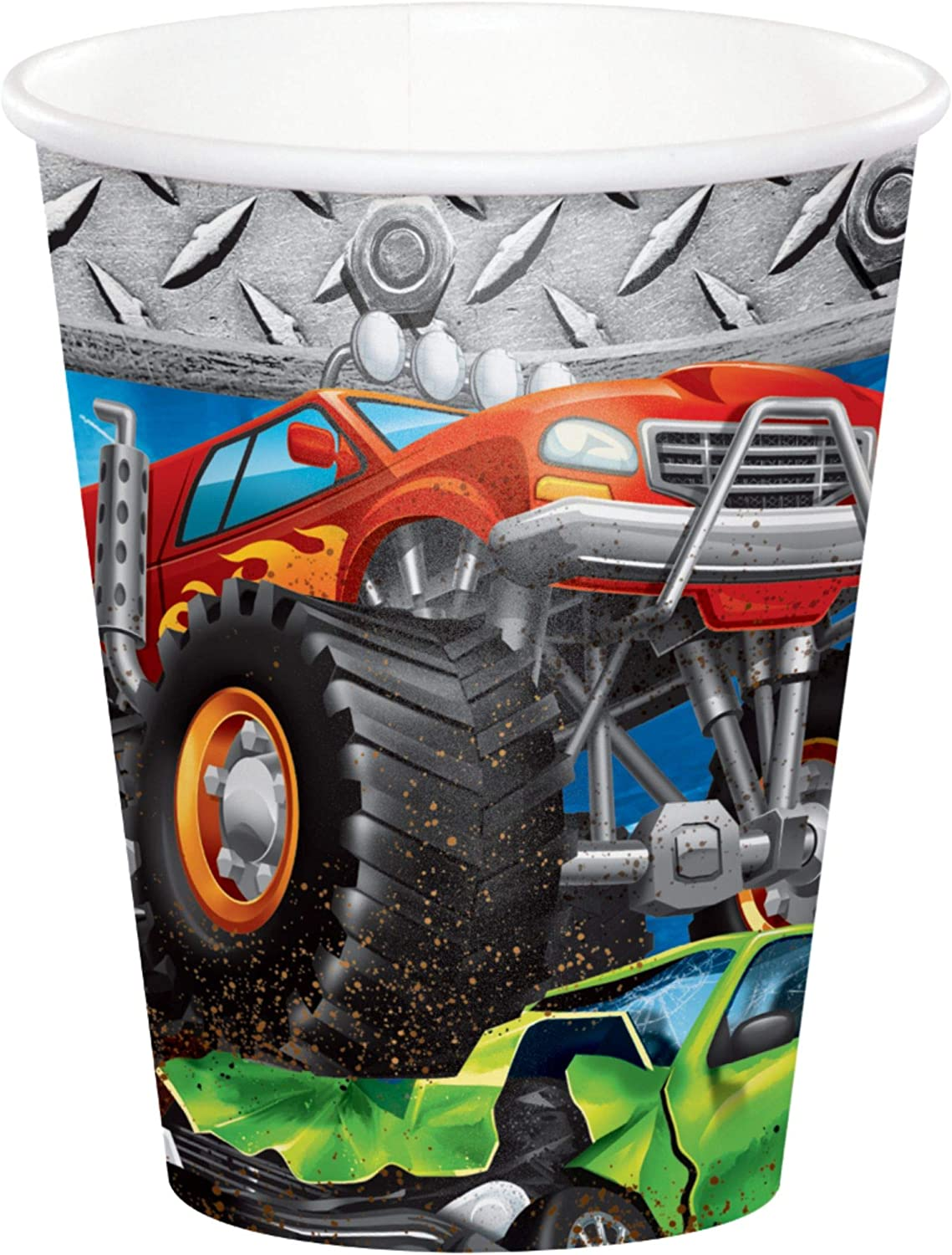 Club Beauty products Pack of 96 Orange and Black Monster Printed Rally Par Truck Superlatite