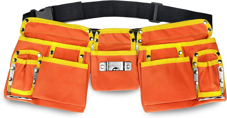GlossyEnd 11 Pocket Orange 600D Polyester Tool Kids Construction Great interest Low price