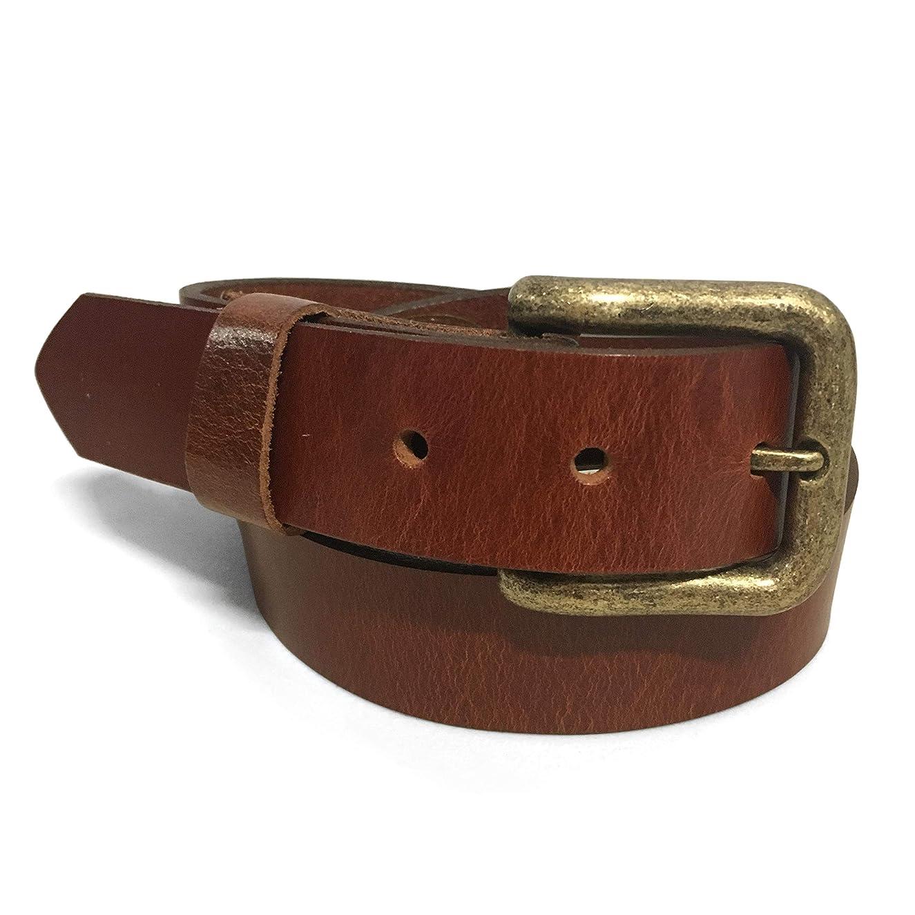 Zelikovitz Men's Solid Full-Grain Leather Belt – 1 1/4