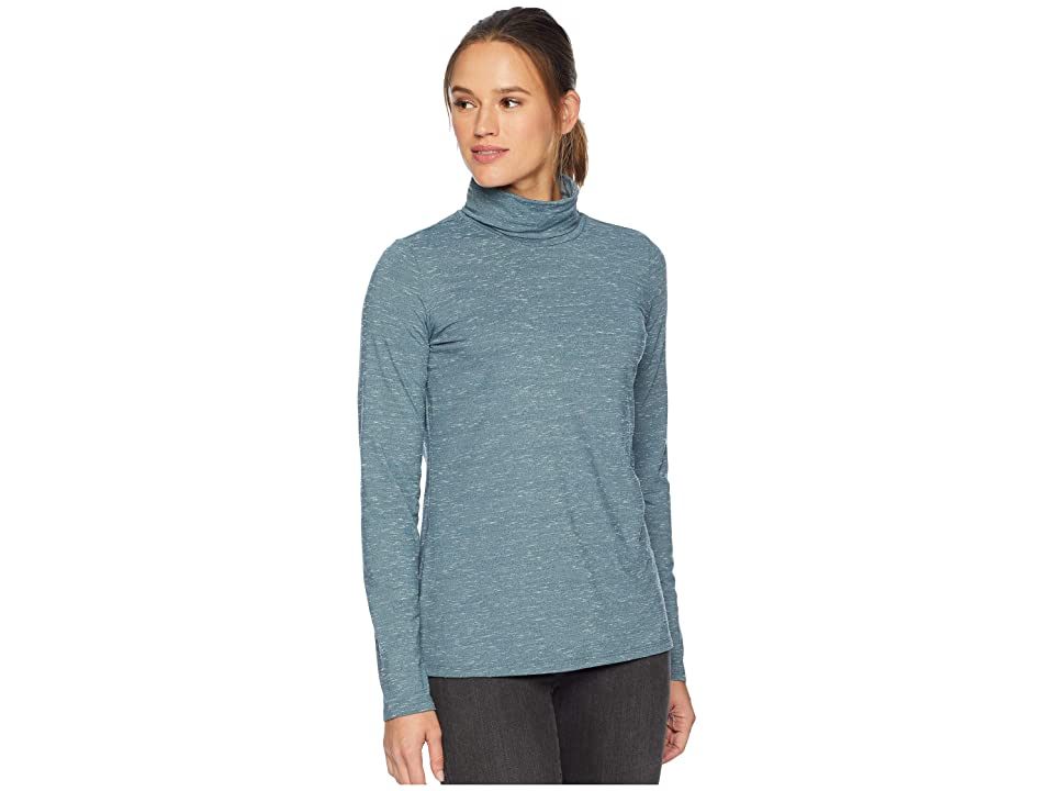 ExOfficio Wanderluxtm Marl Turtleneck (Adriatic Heather) Women
