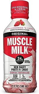 Muscle Milk Original Protein Shake, Strawberries 'N Creme, 34g Protein, 17 FL OZ (Pack of 12)