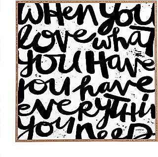 Deny Designs Kal Barteski If You Love Framed Wall Art, 20 x 20