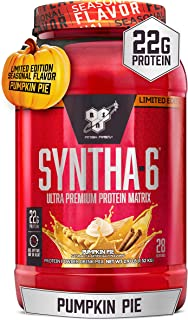 BSN SYNTHA-6 Whey Protein Powder, Micellar Casein, Milk Protein Isolate, Pumpkin Pie, 28 Servings (Packaging May Vary)