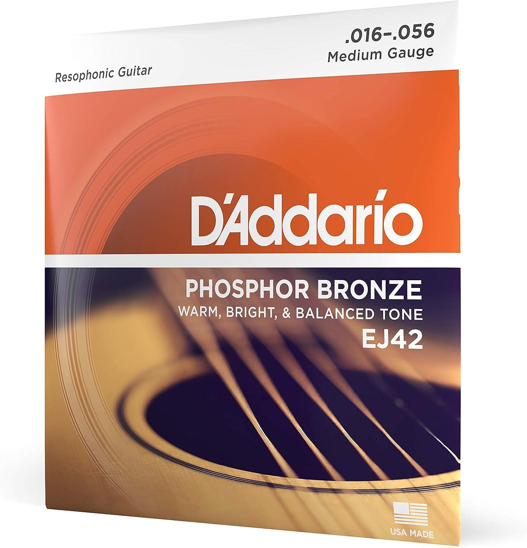 D'Addario EJ42, cuerdas para guitarra resofónica, 16-56