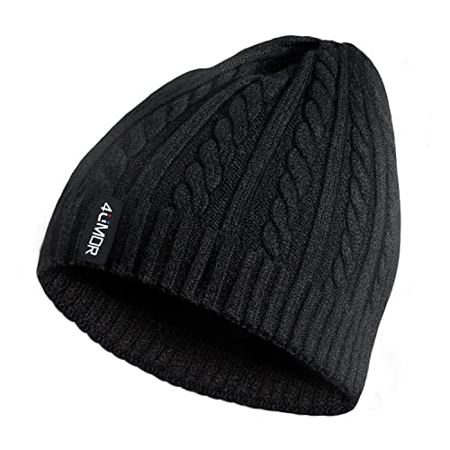 4UMOR Beanie Knit Hats Double-Deck Winter Warm Outdoor, for Travel Hiking  a7f9f7806fa