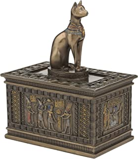 Sale - Egyptian Bastet Jewelry Trinket Box