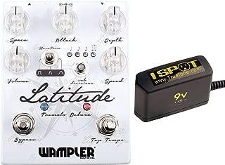 Wampler Latitude Tremolo Deluxe Bundle w/Truetone 1 Spot Space Sacing 9v Adapter