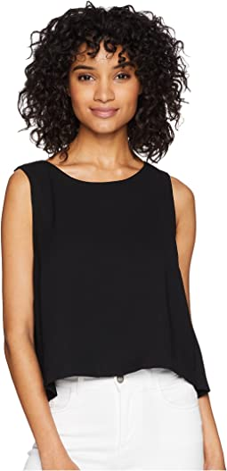 Money Honey Heavy Crepe Top with Chiffon Back