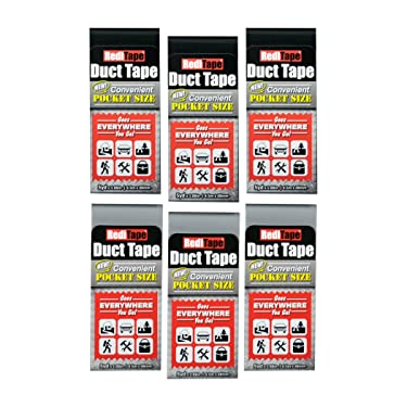 RediTape 10935 Travel, Camping, Photography and Emergencies   Pocket Size, 6-Pack, Black (3) and Silver (3)