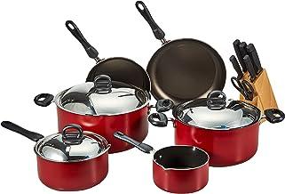 Prestige Aluminum Non-stick Cookware Set of-22 Pieces, Red PR20965