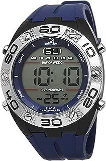 Joshua & Sons Men's JS66BU Blue Digital Watch