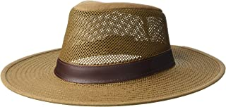 Henschel Adventurer Mesh Breezer Hat with Leather Band, Earth, Large