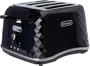 De'Longhi Brillante Exclusive, 4 Slice Toaster, CTJX4003BK, Black