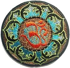 ecusson Om Soleil Terre Mantra Yoga Bouddhiste Univers 6cm Brode thermocollant