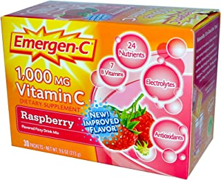 EmergenC, Raspberry, 30 Packets, 9.6 Ounce (Pack of 1)