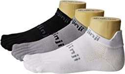 Injinji Run Original Weight No-Show Coolmax 3 Pair Pack
