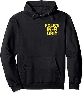 Police K-9 Unit Hoodie Front & Back Print Law Enforcement