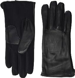 Embossed Half Leather Glove
