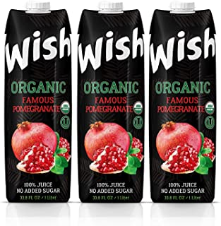 Organic Pomegranate juice USDA. Pack of 3 x 33.8 FL.Oz. No sugar added. Certified Organic. Kosher. Vegan. G...