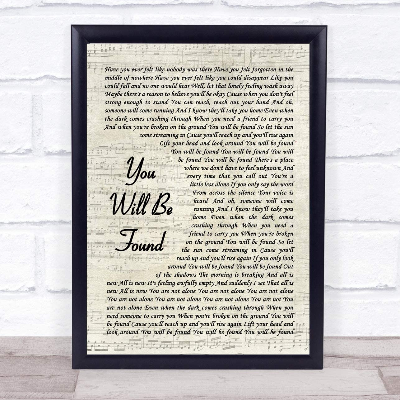 Amazon Com You Will Be Found Vintage Script Song Lyric Quote Music Poster Gift Present Art Print Office Products C lift your head and look around. amazon com