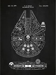 Inked and Screened Millennium Falcon Posters & Prints, 18 x 24, Chalkboard