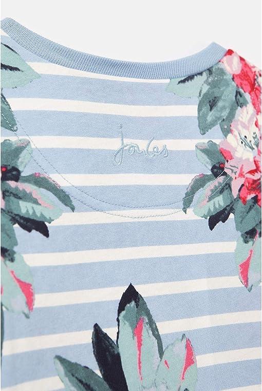 Blue Stripe Floral