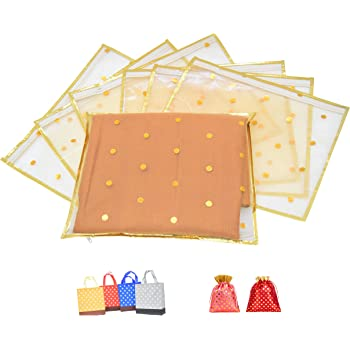Raahii Present Single Packing 10 Pieces Fancy Saree Cover/Saree Organizer for Wardrobe Storage or Gifting