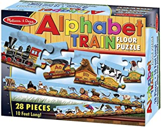 Alphabet Train: 28-Piece Floor Puzzle + FREE Melissa & Doug Scratch Art Mini-Pad Bundle [04247]