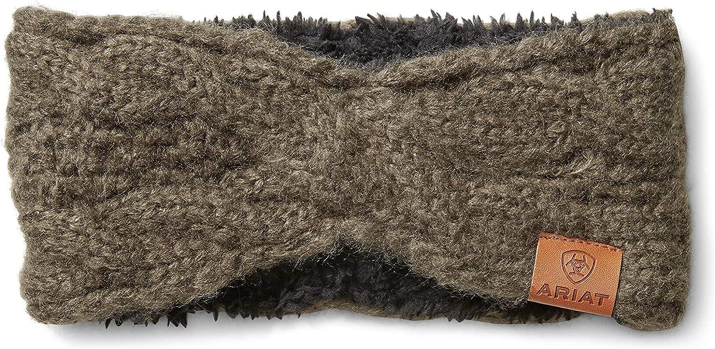 ARIAT Cable Knit Headband in Baynan Bark