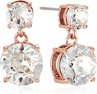 MESTIGE Women Crystal Rose Gold Lauren Earrings with Swarovski Crystals
