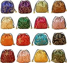 حقيبة هدايا من الذهب Fortune مكونة من 32 قطعة من الحرير المزخرف برباط للعملة المعدنية