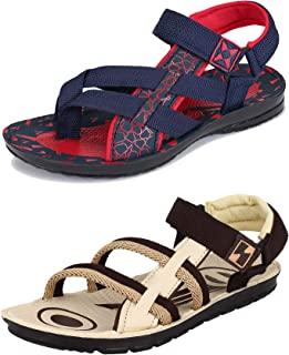 Camfoot-Multicolor Exclusive Range of Casual Sandal for Men (Combo-(2)-854-9152)