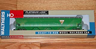 WALTHERS 932-41103 Platinum LINE Trinity 6351 4-Bay Covered Hopper NAEX (Green) NAEX 20128