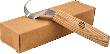 Wood Carving Hook Knife for Carving Wooden Spoons, Bowls, and Cups - Premium Wood Carving Tools with Razor Sharp Steel Blade and Reinforced Wooden Handle