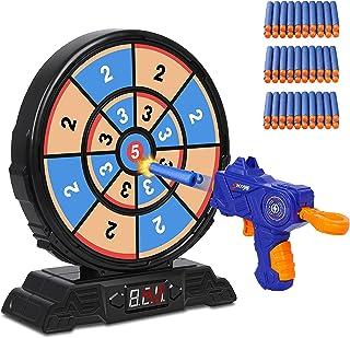 Digital Shooting Targets with Foam Dart Toy Gun, Electronic Scoring Board Games for Kids, Digital Targets, Shooting Game T...