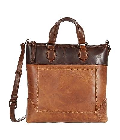 Frye Melissa Small Tote Crossbody (Beige Multi) Cross Body Handbags