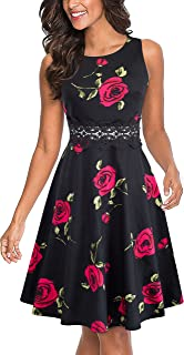 Best black and red floral midi dress Reviews