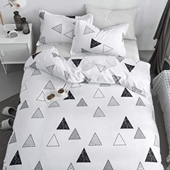 Amazon Com Black And White Duvet Cover Queen Cotton Kids Bedding