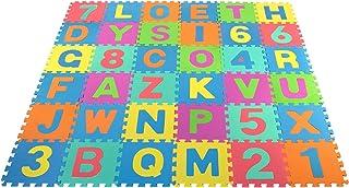 COSMOLINO Tapis puzzle 36 pièces pour bébé - Tapis de jeu pour enfants et enfants - Tapis de jeu en mousse