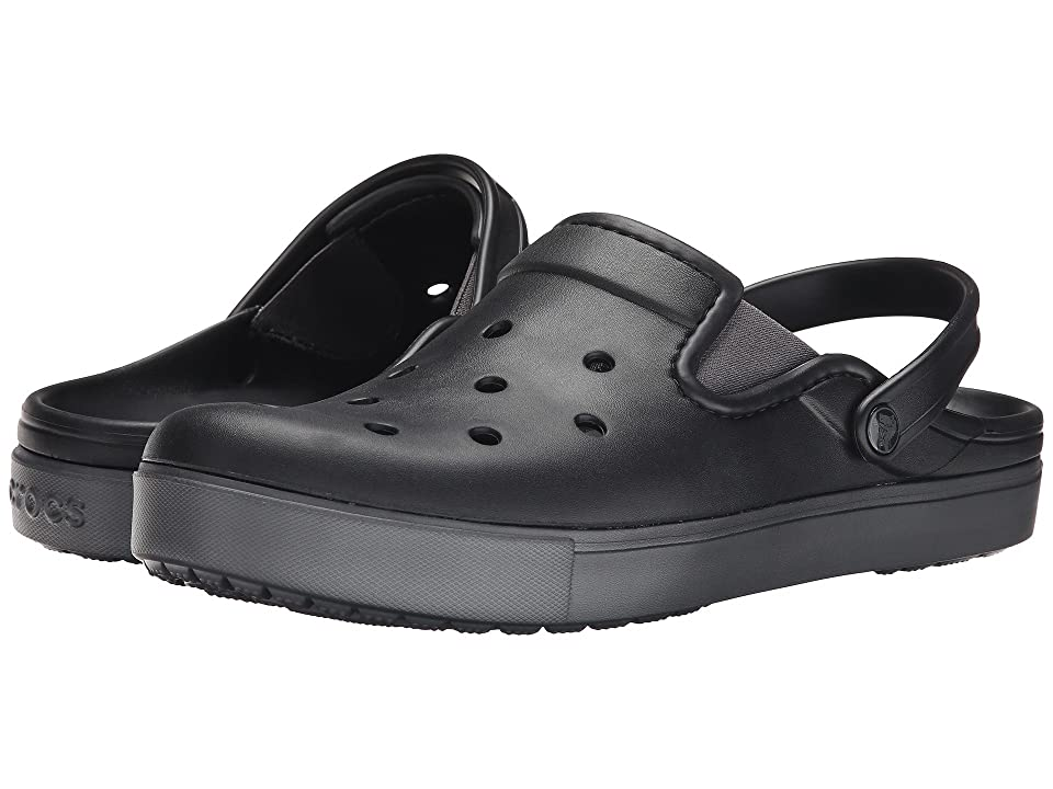Crocs CitiLane Clog (Black/Graphite) Clog Shoes