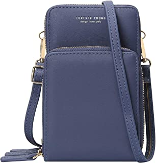 KUKOO Small Crossbody Phone Bags for women, Multi Pocket Shoulder Cell Phone Purse Wallet for Travel