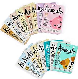 masque BAR 16 Piece Pretty Animalz Face Mask Pack, Hydrating Korean Beauty Paper Face Masks for Women, Fun Animal Sheet Facemask Kit for Kids, Moisturizing Facial Skincare for Sensitive Skin & Acne