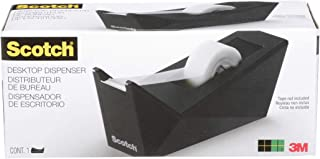 """Scotch Facet Design One-Handed Dispenser, with 3/4 x 350 Tape Roll, 1"""" Core, Black (C17MB0)"""