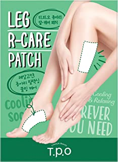 T.P.O Leg R-care Patch 2ea, Relieve Stress and Resting Tired Calf & Legs, Cooling, Legs Relaxing Patch, Patch Type, Pack of 10