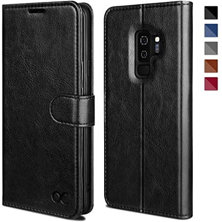 OCASE Samsung Galaxy S9 Plus Case, S9 Plus Wallet Case [TPU Shockproof Interior Protective Case] [Card Slot] [Kickstand] [Magnetic Closure] Leather Flip Case for Samsung Galaxy S9 Plus (Black)