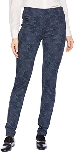 Denim Flower Print Thinny Pants