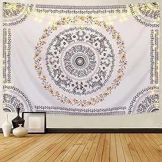 Sevenstars Bohemian Mandala Tapestry Hippie Floral Tapestry Sketched Flower Tapestry Art Print Tapestry for Room
