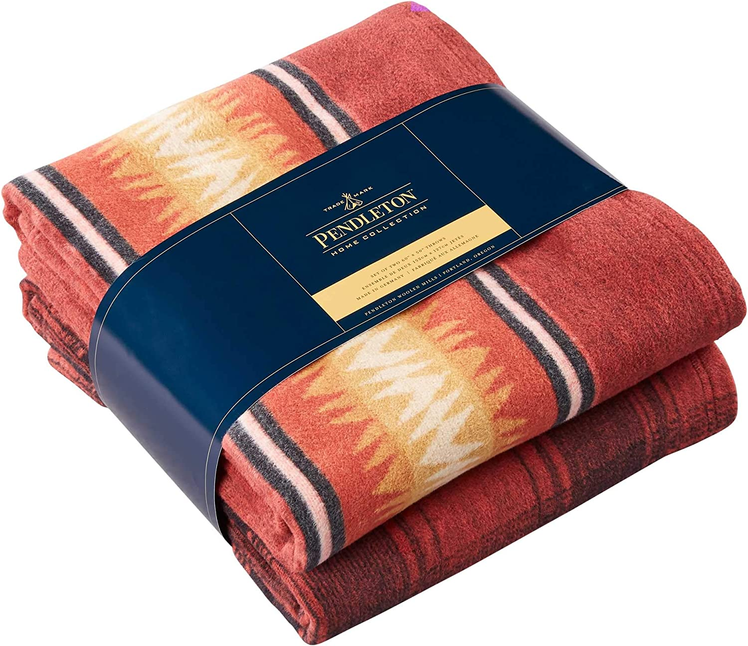 Pendleton Cotton Acrylic Throw Gift Thunder Pack One Now on sale Basket Red trust