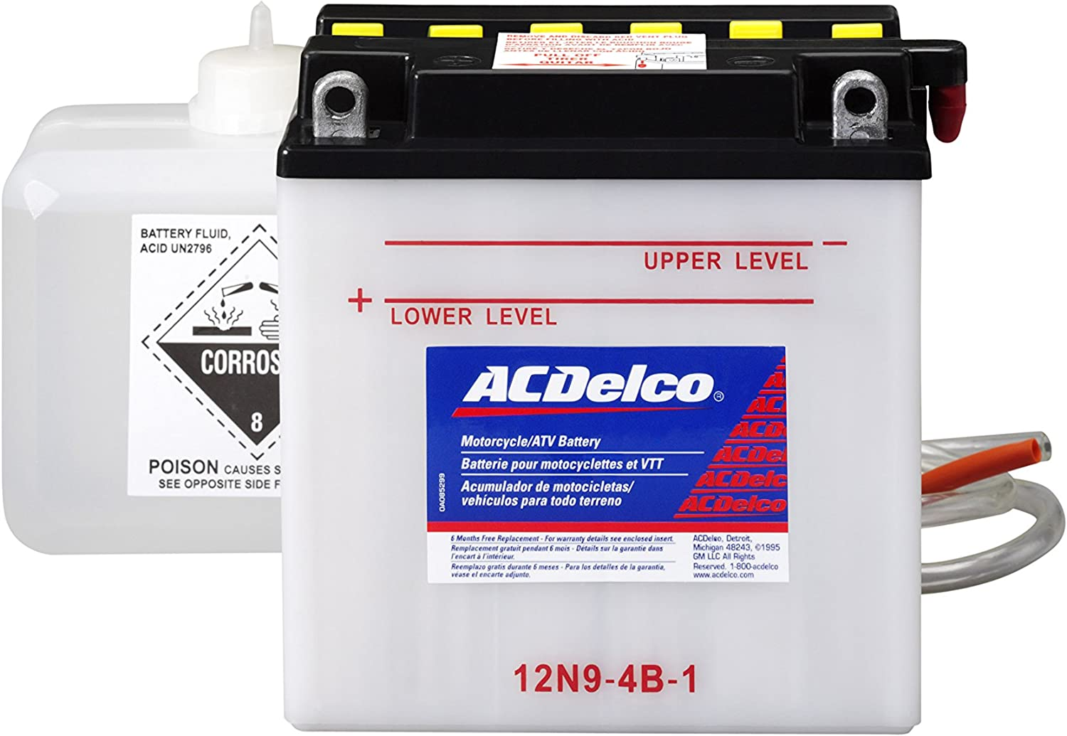 ACDelco AB12N94B1 Specialty Conventional Powersports JIS 12N94B1 Battery